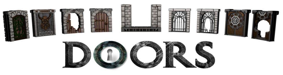 Vos figurines prennent la porte avec notre nouvelle extension pour The lost Corridors. 8 nouvelles portes, herses et passages secrets au format STL ou Box physique.